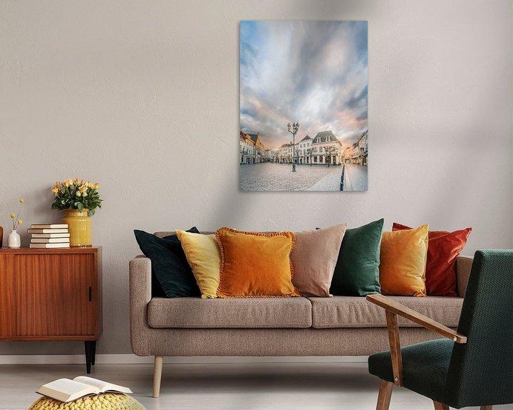 Sfeerimpressie: Zonsondergang Havermarkt te Breda van Joris Bax