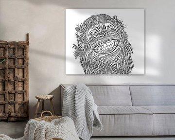Schimpanse von Jose Lok