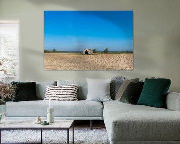 Prairie, Verlaten schuur in open veld