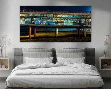 Kleurrijke avond opname van de pier van Scheveningen van MICHEL WETTSTEIN