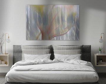 Dromerige waterbloem in pastel van Herman Kremer