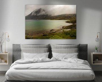 Märchenlandschaft in den Bergen mit einem See von Karijn | Fine art Natuur en Reis Fotografie