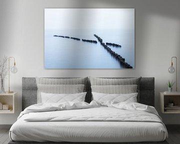 Houten kribben in de Oostzee van Tilo Grellmann | Photography