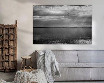 Sonnenstrahlen über einem See von Dennis Claessens