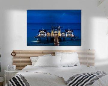 Sellin pier op het blauwe uur van Tilo Grellmann | Photography