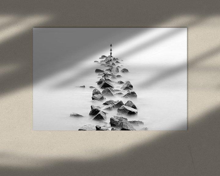 Beispiel: Wellenbrecher in schwarzweiß von Tilo Grellmann | Photography