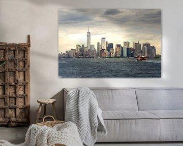 Skyline New York (2:3) in kleur van Lolke Bergsma