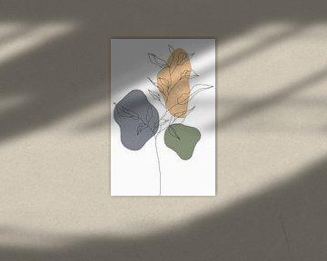 Wildblume Herbst I von Munich Art Prints