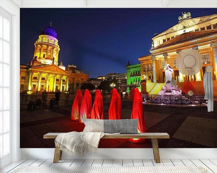Impression: Cinq sculptures sur le Gendarmenmarkt de Berlin sur Frank Herrmann