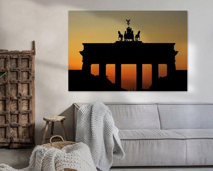 Sfeerimpressie: Brandenburgse Poort Zonsondergang van Frank Herrmann
