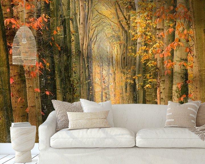 Sfeerimpressie behang: A wall of trees van Max ter Burg Fotografie