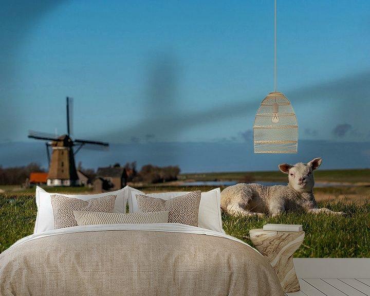 Impression: Texel - l'agneau profite du Nord au moulin sur Texel360Fotografie Richard Heerschap