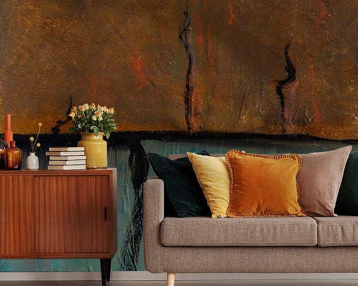 Sfeerimpressie behang: Horizon Compositie #6 van Sander Veen