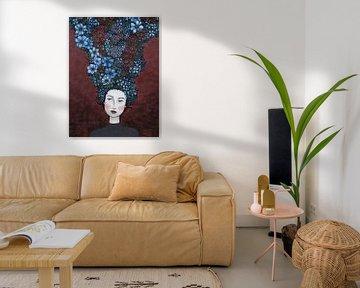 Blumen in meinem Kopf (Nr.2020-22) von Kris Stuurop