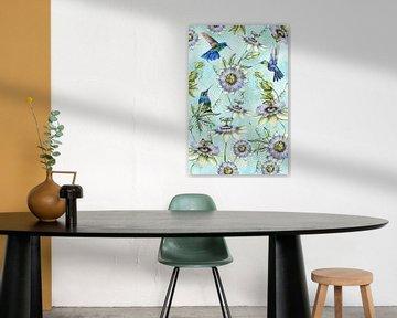 Kolibris Passionsblume von Geertje Burgers