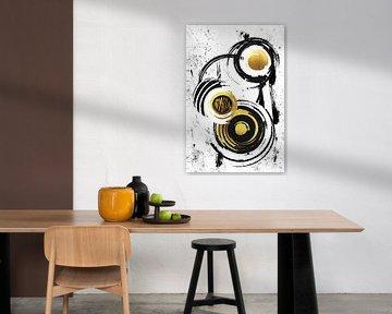 Abstracte schildering nr. 34 | goud van Melanie Viola