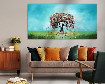 Baum des Lebens von Gena Theheartofart