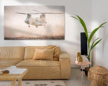 De Chinook landend in het stof van Dennis Janssen