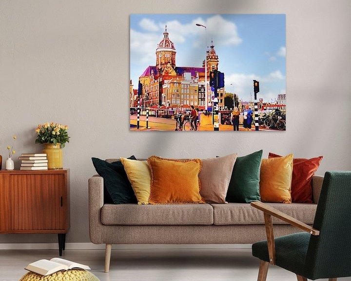 Beispiel: St. Nikolaus-Kirche in Amsterdam von Digital Art Nederland
