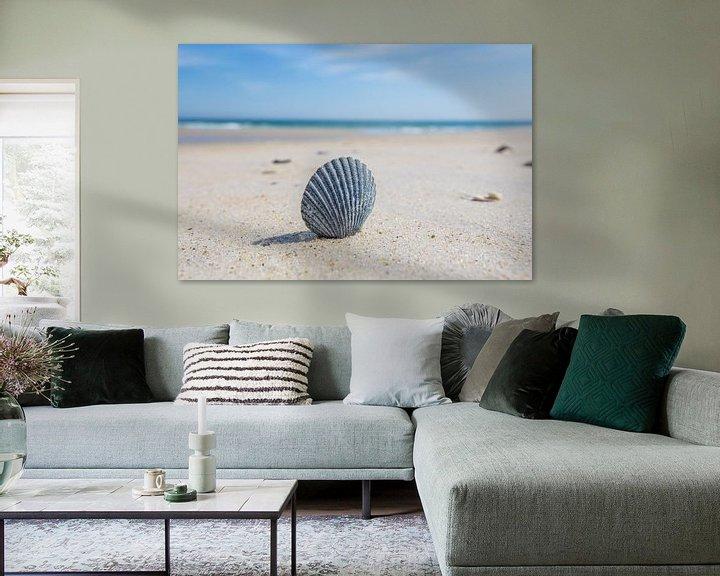 Impression: Shell sur la plage sur Bert Nijholt