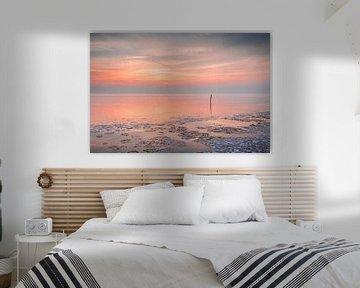 Coucher de soleil à l'Ijsselmeer sur Bert Nijholt