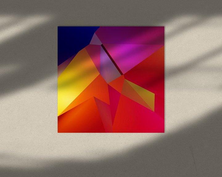 Beispiel: Abstrakter Kubismus Gesicht von Pat Bloom - Moderne 3D, abstracte kubistische en futurisme kunst