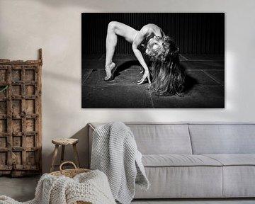 Sehr schöne nackte Frau, fotografiert in einem schmutzigen alten Lagercontainer. #A8483 von william langeveld