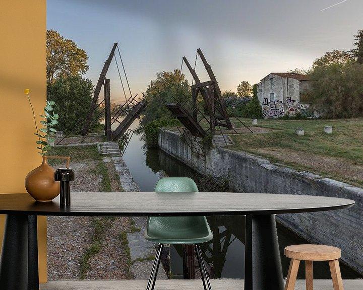 Impression: Pont-levis de Vincent van Gogh à Arles, Provence, France sur Maarten Hoek