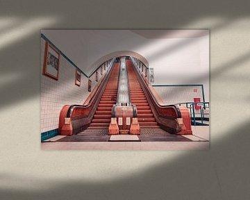 De prachtige houten roltrappen van de Sint-Annatunnel in Antwerpen van Matthijs Van Mierlo
