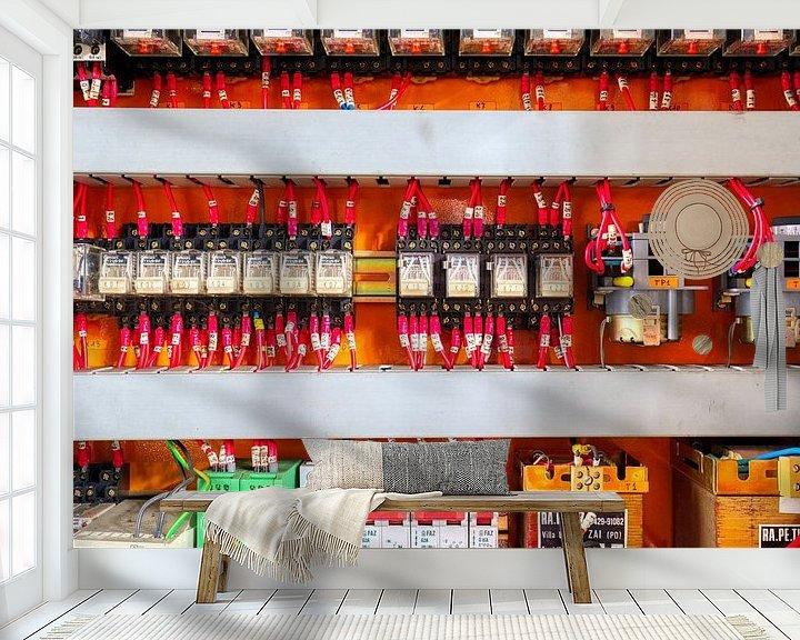 Sfeerimpressie behang: Electriciteitskast van W J Kok
