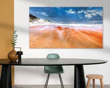 Sandverschiebung am Strand von Digital Art Nederland