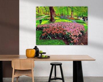 Tulpenhügel Keukenhof von Digital Art Nederland