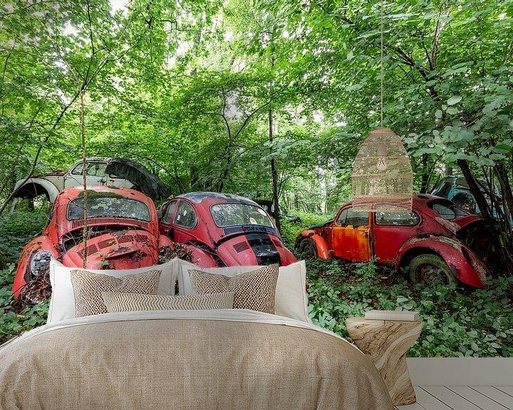 Sfeerimpressie behang: Volkswagen kever van William Linders