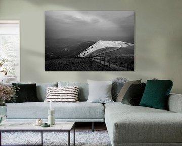 Landschap Mont Ventoux in zwart-wit van Beeldpracht by Maaike