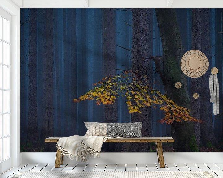 Sfeerimpressie behang: Afgelopen herfst kleuren van Denis Feiner
