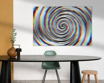 Veelkleurige spiraal, origineel digitaal ontwerp van Annavee