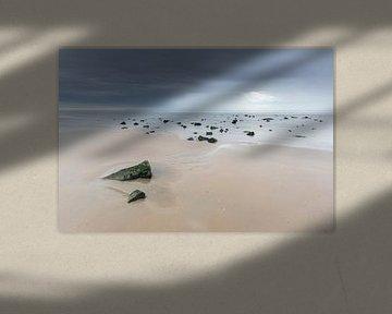 Strand Ameland bij eb van Anja Brouwer Fotografie