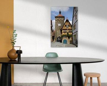 Het Plönlein Rothenburg ob der Tauber van Christiane Schulze