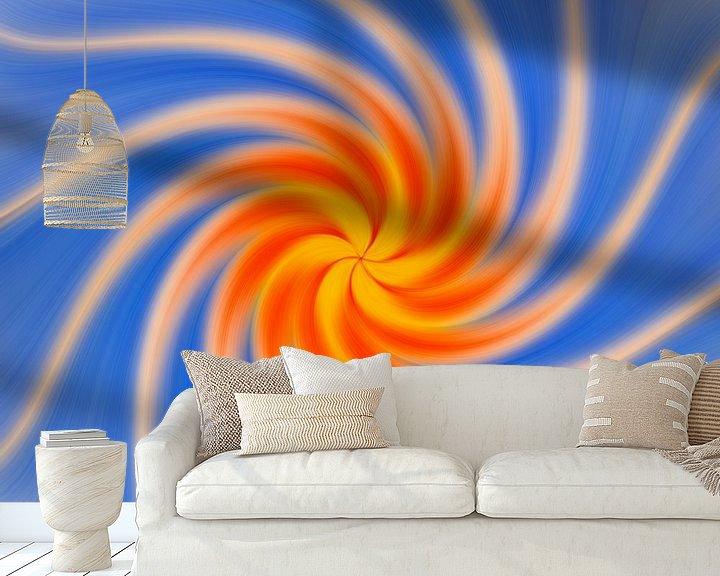 Sfeerimpressie behang: Mandala Twirl van Adelheid Smitt