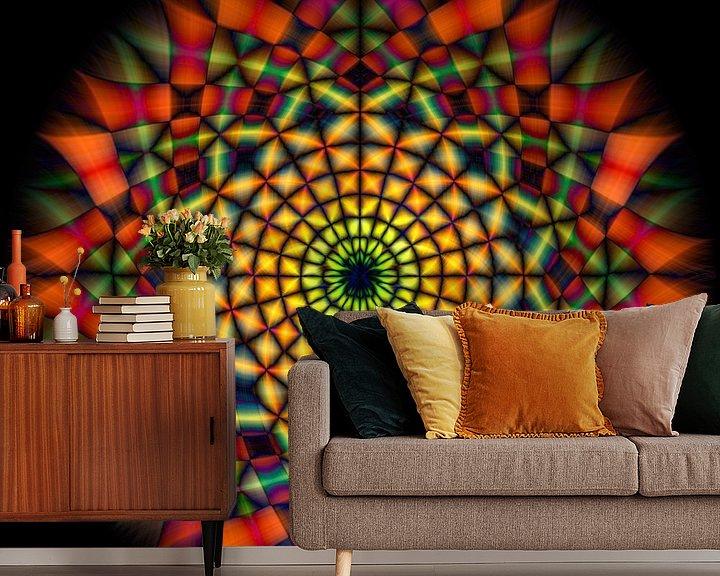 Sfeerimpressie behang: Kaleidoskoop van Adelheid Smitt