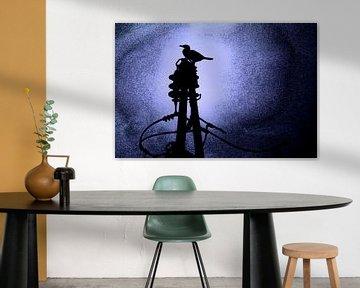 Kormoran bei Nacht von Studio Kunsthart