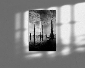 Palendorp bei Petten in Schwarz-Weiß von Wim Stolwerk
