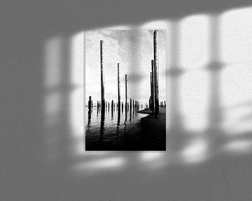 Denkmal Palendorp in Schwarz-Weiß von Wim Stolwerk