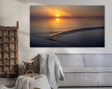 Zonsondergang Veluwemeer strand Harderwijk
