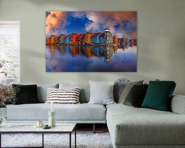 Reitdiep-Hafen von Groningen von Marcel Kieffer