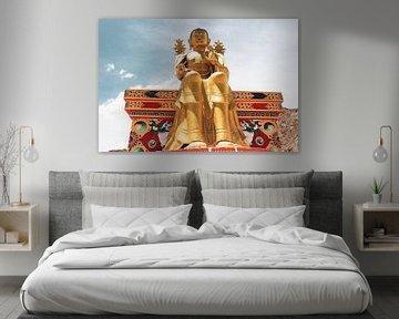 Likir klooster in Ladakh met gouden Maitreya beeld van yourtravelreporter