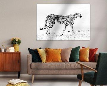 Abstrakter Gepard von Sharing Wildlife