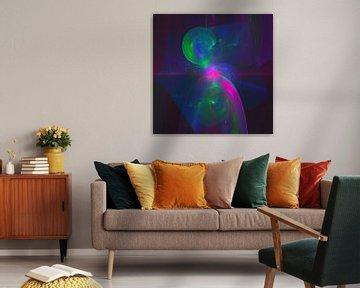 "Abstraktes digitales Fraktal ""Gedankenkorridor"" von Pat Bloom - Moderne 3D, abstracte kubistische en futurisme kunst"