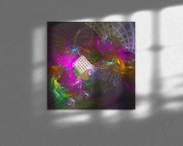 Reise durch eine Zeitmatrix abstrakter fraktaler Kunstwerke von Pat Bloom - Moderne 3D, abstracte kubistische en futurisme kunst