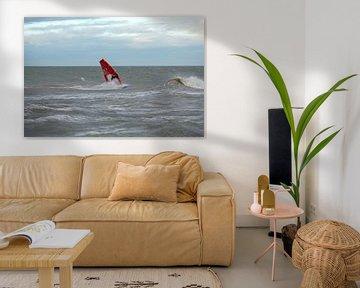 Surfer Domburg van MSP Canvas